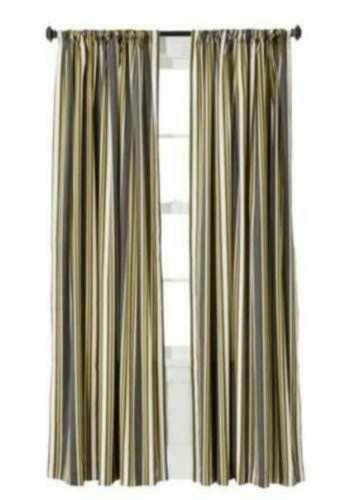 Yellow Striped Curtains   eBay