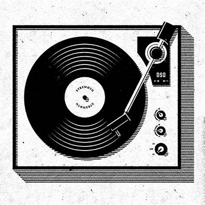 Record Player Round Turntable Vinyl Dj Schallplatten