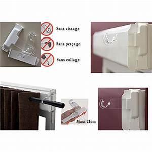 Support Douchette Sans Percer : 2 supports de tringle rideaux pour caisson ou coffre de ~ Premium-room.com Idées de Décoration
