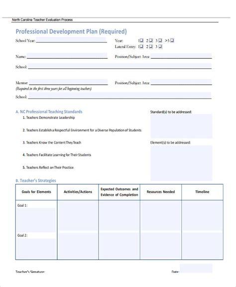 Employee Professional Development Plan Template by 22 Development Plan Templates Free Premium Templates