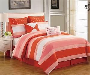 8, Piece, Preston, Coral, And, Pink, Comforter, Set