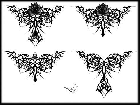 Gothic Tribal Rose Tattoo