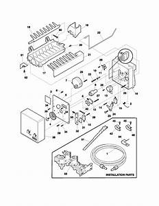 Ice Maker Diagram  U0026 Parts List For Model Frs23h5asb9