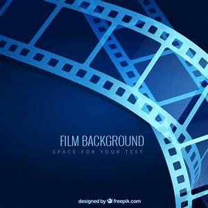 Fondo de película azul  Descargar Vectores gratis