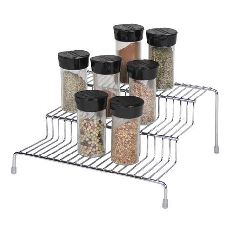 Chrome Spice Racks by Essential Home 3 Tier Spice Rack Chrome Home Kitchen