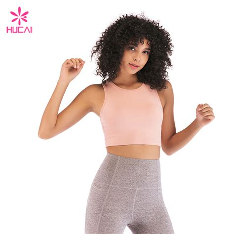 Hot promotions in bra bulk on aliexpress: Wholesale Nylon Spandex Sports Bra Ladies Plain Crop Top ...