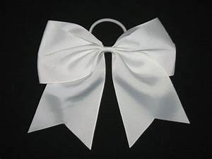Light Pink Cheer Bow New Quot White Quot Cheer Bow Pony 3 Inch Ribbon Girls Hair