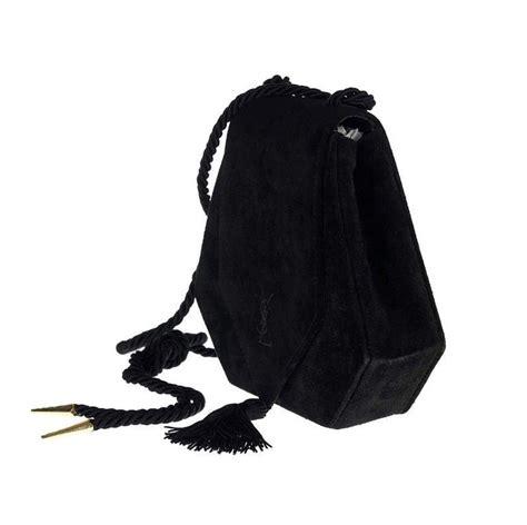 vintage yves saint laurent ysl black tassel suede shoulder bag  sale  stdibs
