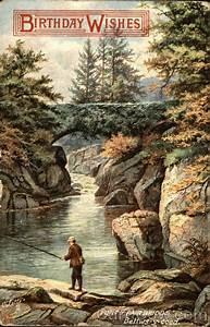 Birthday, Wishes, A, Man, Catching, Fish, Under, Pont