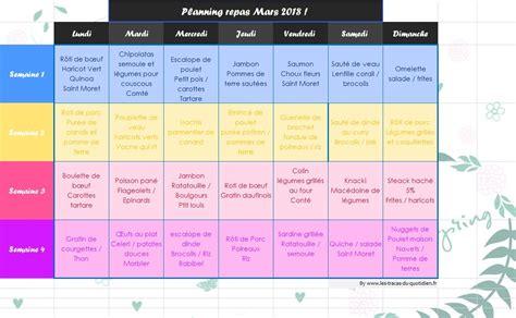 Si vraiment c'est dur, je vous conseille aussi de fractionner les repas. Planning de repas de Mars adapté pour toute la famille ...