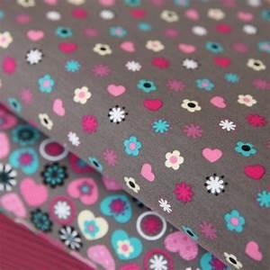 Jersey Stoffe Kinder : jersey stoff blumen herzen auf taupe wiese g nstig kaufen ~ Markanthonyermac.com Haus und Dekorationen