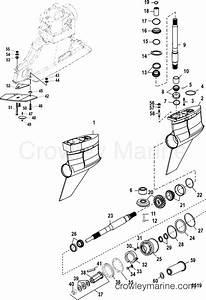 Gear Housing Bravo I Xr  Sportmaster  0m955633 And Below