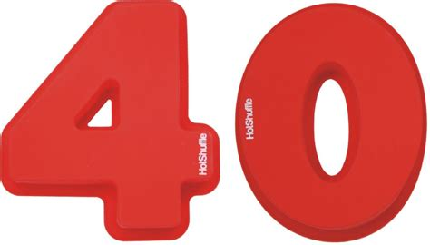 40 number cake tin wedding anniversary mould 40th silicone ruby birthday 30cm