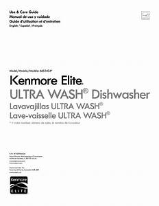 Kenmore Dishwasher 665 1404 User Guide