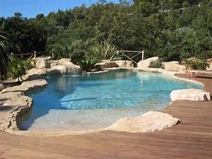 Piscine Avec Cascade : inspiration piscine naturelle avec cascade ~ Premium-room.com Idées de Décoration