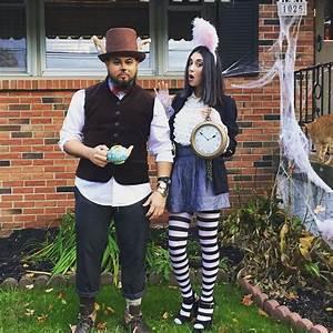 Hase Alice Im Wunderland Kostüm : diy march hare and white rabbit alice in wonderland costumes fasching kost m alice im ~ Frokenaadalensverden.com Haus und Dekorationen