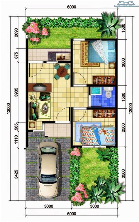 contoh denah rumah minimalis beserta ukurannya disain