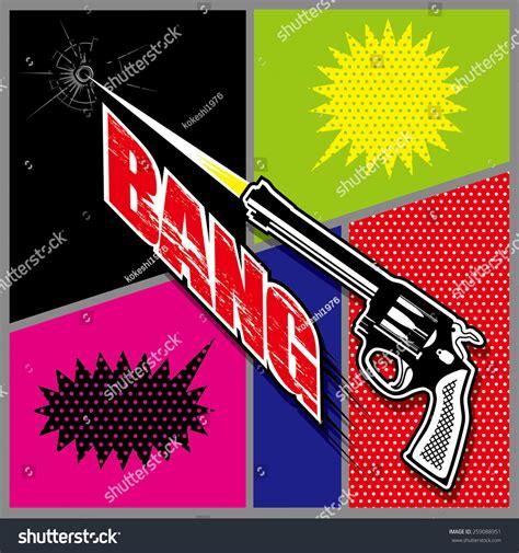 Comic Sound Effect Bang Stock Vector Illustration