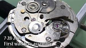 First Watch Disassembly  U0026 Re-assembly Seiko 7s26