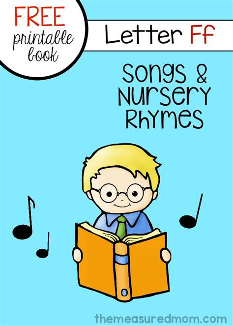 letter f minibook rhymes amp songs 430   free letter F book