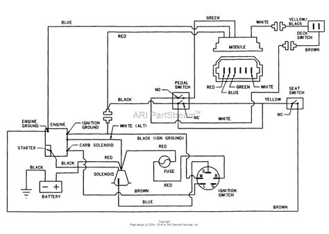 15 Schematic Wiring by Snapper 331415kve Rear Engine Rider Series 15 Parts