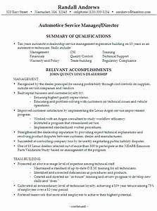 resume automotive service manager director With automotive resume