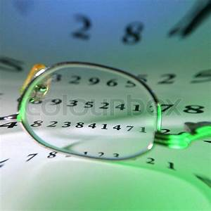 Eye Glasses Reflected With Optometrist Chart On Background