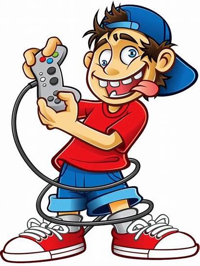 Clipart Cartoon Kid Gaming Transparent Play Playing