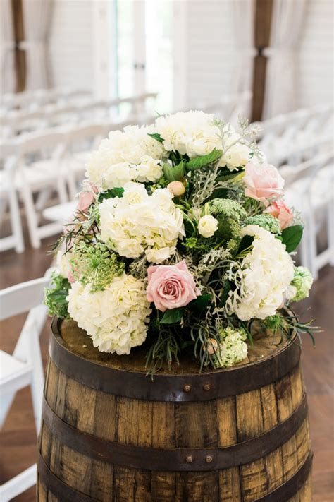 wedding flowers  wine barrels elizabeth anne designs