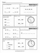 Free 2nd Grade Daily Math Worksheets Math Worksheets Dynamically Created Math Worksheets 6th Grade Math Worksheets Time Worksheet Oclock Quarter And Half Past Workbook Pages Galore