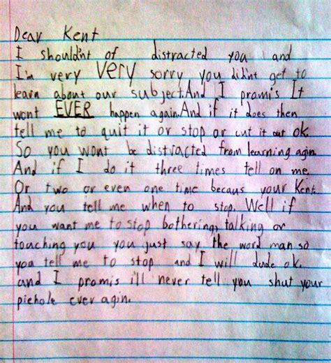 kids apology letter write  apology letter   kids