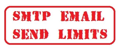 smtp email sending limits  rates  hosting providers
