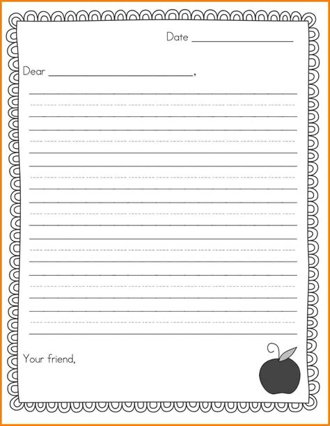 printable writing templates  elementary students final