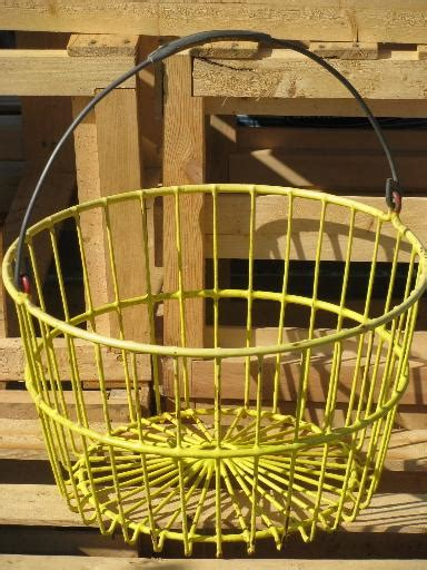 vintage farm or kitchen garden produce basket wire