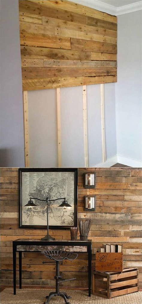 wood pallet wall accent wall tutorial shiplap wall diy