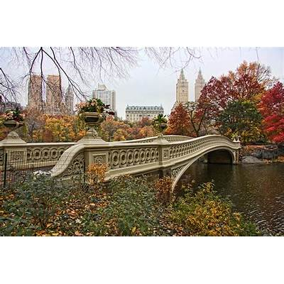 Bow Bridge In Central Park Photograph by June Marie Sobrito