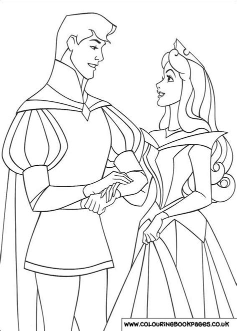 sleeping beauty colouring pages  character colouring