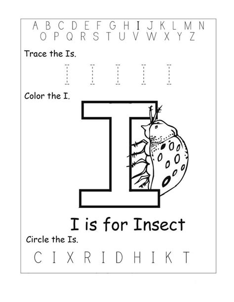 worksheets of letter i letter i worksheets www pixshark images galleries