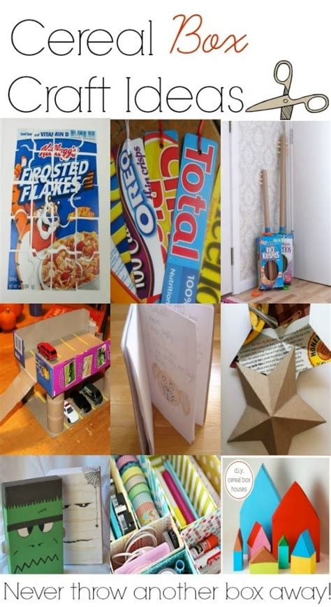 easy crafts cereal box craft ideas the grant 836 | Cereal box craft ideas to do with kids. Youll never want to throw another cereal box away again 558x1024