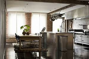 45 cool industrial kitchen designs that inspire digsdigs for Industrial home kitchen design