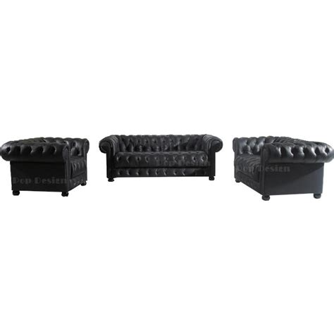 canapes chesterfield canapé 3 places en cuir chesterfield pop design fr