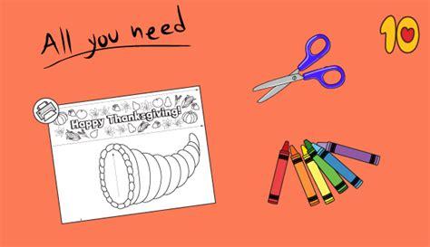 cornucopia printable craft happy thanksgiving