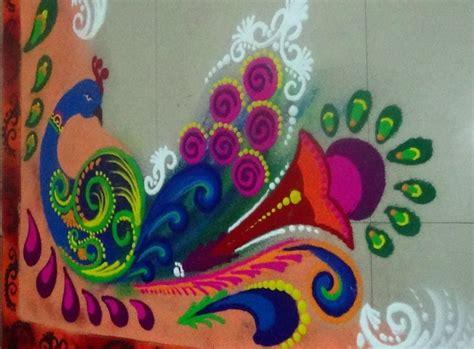 peacock rangoli designs peacock rangoli special