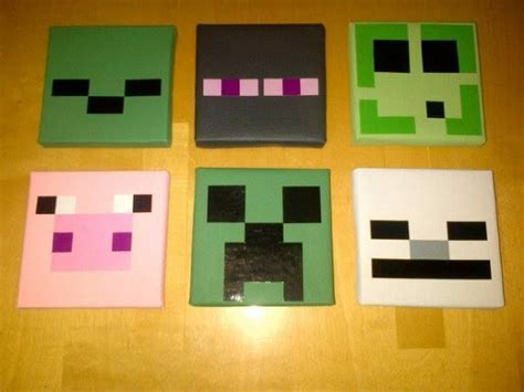 Minecraft Bedroom Pictures by 6 Minecraft Childrens Bedroom Wall Hanging Canvas Pictures
