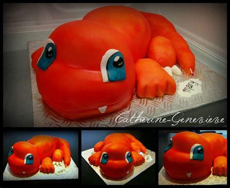 charmander cake pokemon la cabotine gateaux cakes