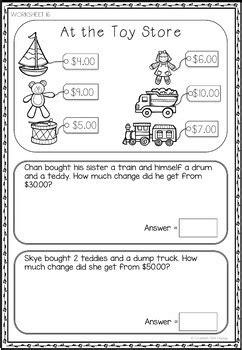 australian money worksheets year 2 3 by bee happy tpt