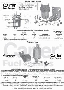 Carter Marine Electric Fuel Pumps Solenoid And Rotary Design