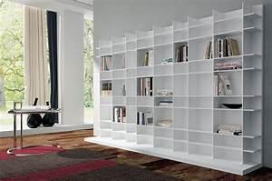 Bibliothèque Moderne Design : biblioth que blanche design photo 19 20 un immense meuble biblioth que tr s ~ Teatrodelosmanantiales.com Idées de Décoration