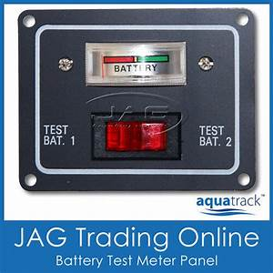 12v Battery Condition Dual Test Meter  Gauge Switch Panel