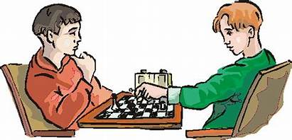 Chess Clip Clipart Playing Cliparts Tournament Struggle